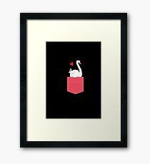 swan in my pocket Framed Print