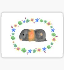 "Flower Crown Guinea Pig ""Bumble Bee"" Sticker"