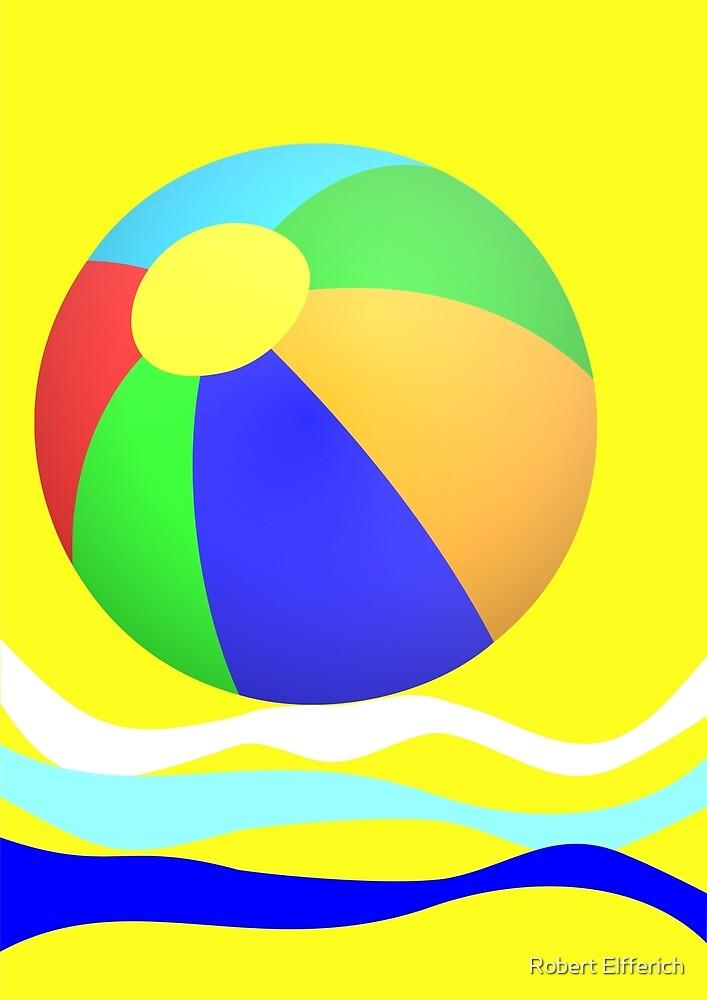 Beachball by Robert Elfferich