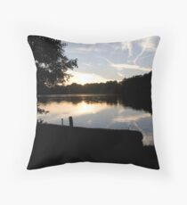 SUNSET AT BLAKE MERE - ELLESMERE. Throw Pillow