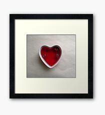 jello heart Framed Print