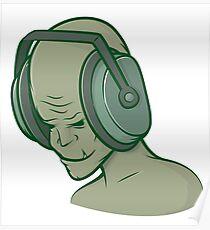 Zombie Headphones Music Poster