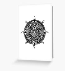 Mesoamerica - Aztec Calendar Greeting Card