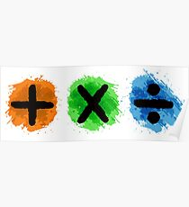 Plus Multiply Divide Album Watercolor Poster