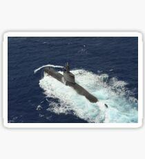 Republic of Korea submarine ROKS Lee Eokgi transits on the surface in Pearl Harbor, Hawaii. Sticker