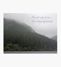 The Mist Came To Me Photographic Print