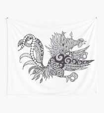 Gamecock Zen Wall Tapestry