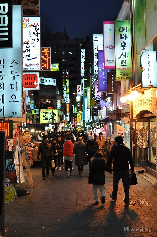Quot Myeongdong Market At Night Quot By Mike Ashley Redbubble