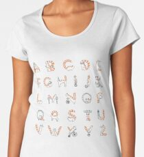 Circus cat alphabet Women's Premium T-Shirt