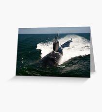 The Virginia-class attack submarine USS California. Greeting Card