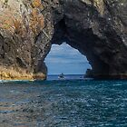 Hole in the Rock, Bay of Islands, New Zealand by Elaine Teague