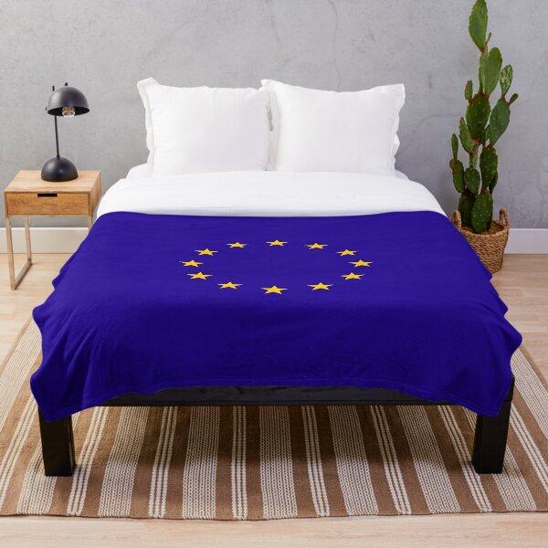 EU. European, Remainers, STARS, Flag, Euro, Flag of Europe, European Union, Flag, Brussels. Throw Blanket