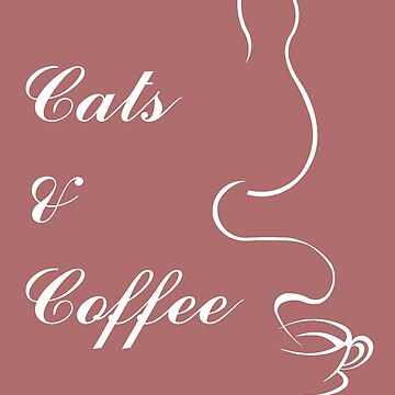 Cute Cats and Coffee T-Shirt by triharder12