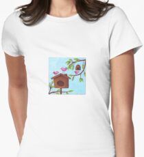 Happy hideaway Womens Fitted T-Shirt