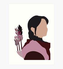 Katniss in Purple Art Print