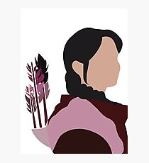 Katniss in Purple Photographic Print