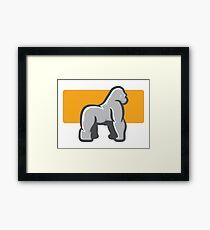 Gorilla Mascot Side View Framed Print