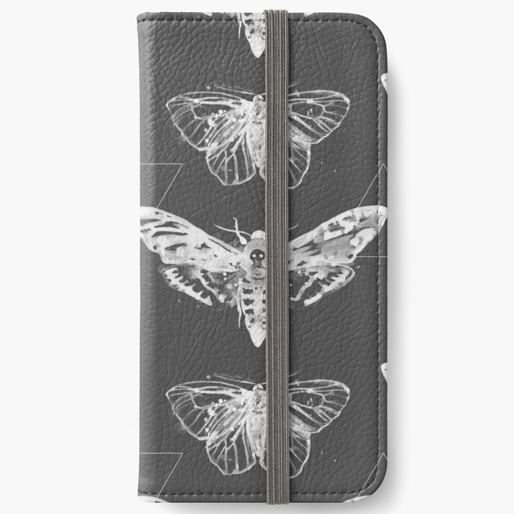 Geometric Moths - inverted iPhone Wallet