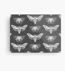 Geometric Moths - inverted Metal Print