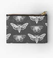 Geometric Moths - inverted Studio Pouch