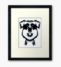 Terrier Dog Portrait Framed Print