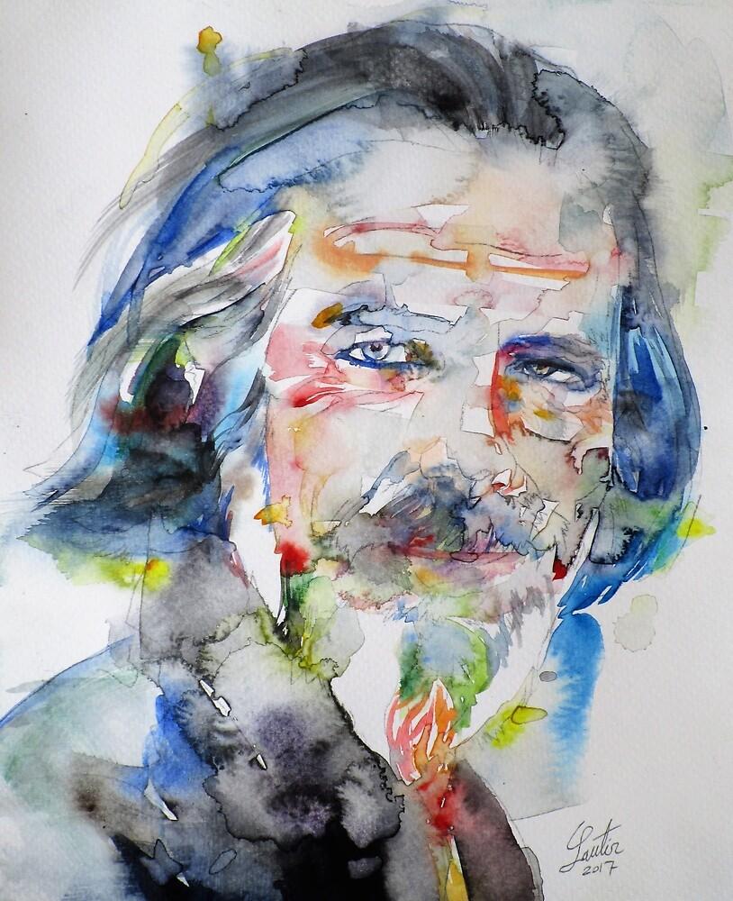 ALAN WATTS - watercolor portrait.6 by lautir