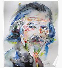 ALAN WATTS - watercolor portrait.6 Poster
