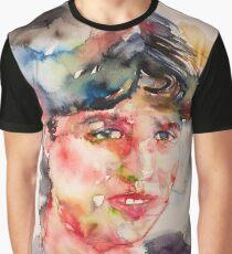 SYLVIA PLATH - watercolor portrait Graphic T-Shirt