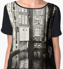 Rhythms of Amsterdam. Black and White Women's Chiffon Top