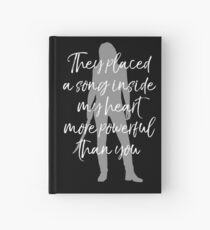 They placed a song inside my heart Hardcover Journal