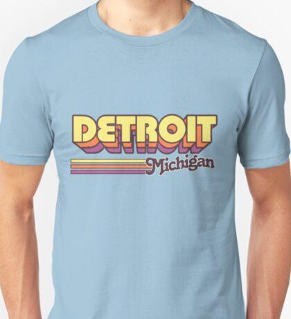 Detroit, MI   City Stripes T-Shirt
