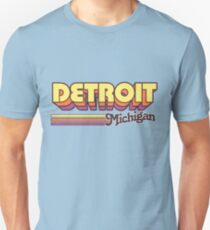 Detroit, MI | City Stripes Unisex T-Shirt