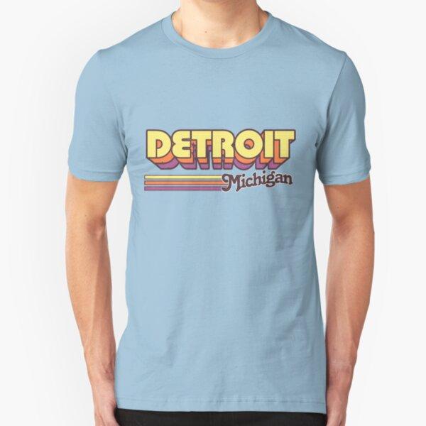Detroit, MI | City Stripes Slim Fit T-Shirt