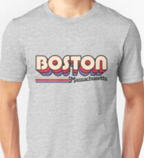 Boston, MA | City Stripes Unisex T-Shirt