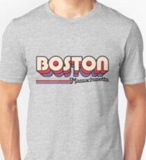 Boston, MA | Stadt Streifen Slim Fit T-Shirt