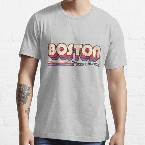 Boston, MA | City Stripes Essential T-Shirt