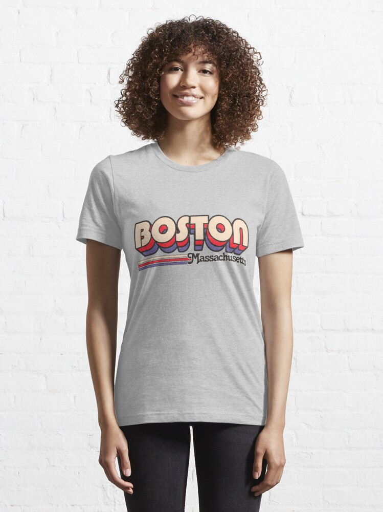 Alternate view of Boston, MA | City Stripes Essential T-Shirt