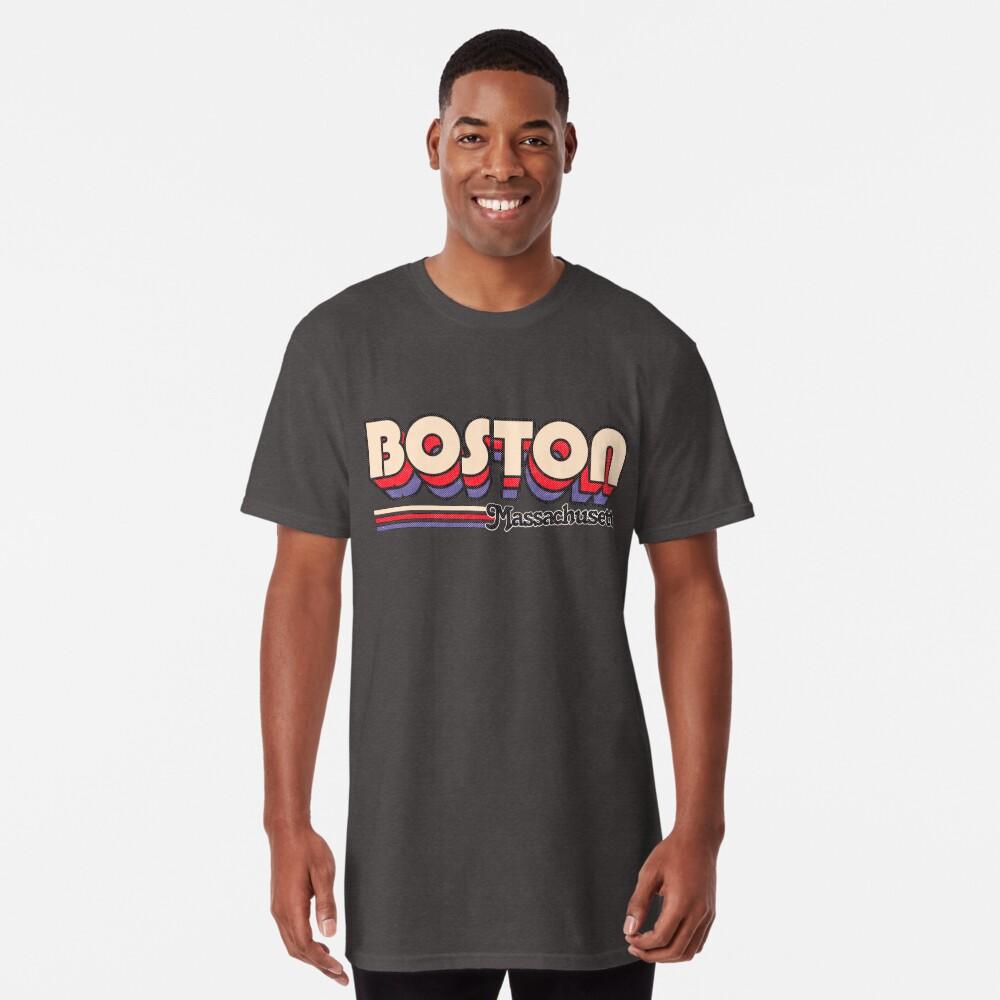 Boston, MA | Rayas de la ciudad Camiseta larga