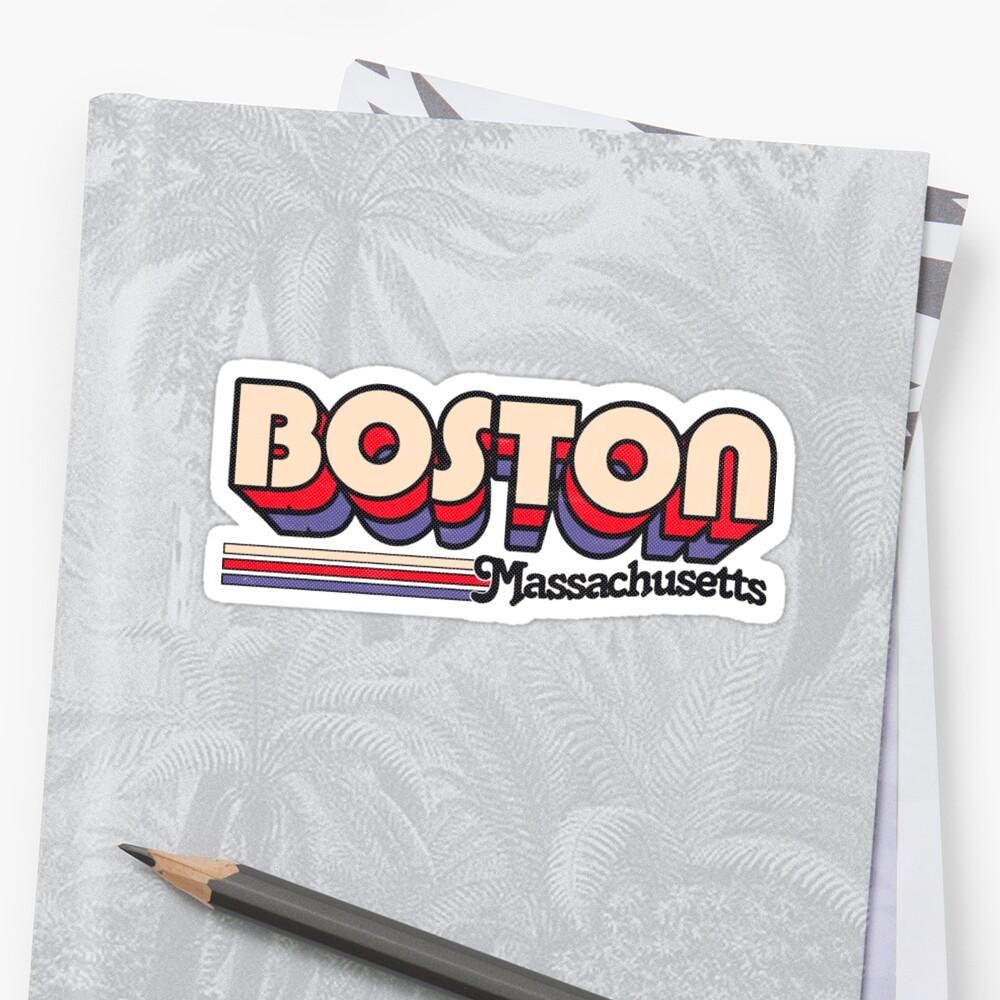 Boston, MA | Rayas de la ciudad Pegatinas
