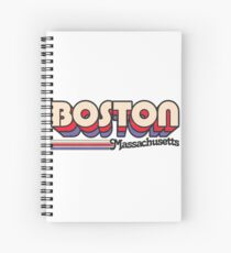 Boston, MA | City Stripes Spiral Notebook