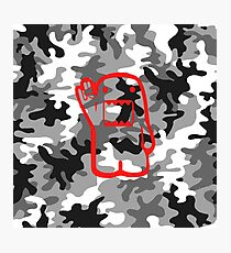 Camouflage Domo red Photographic Print
