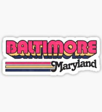Baltimore, MD | City Stripes Sticker
