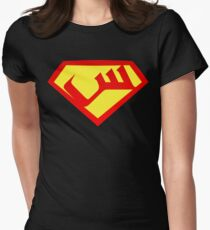 """Seen"" Shield Womens Fitted T-Shirt"