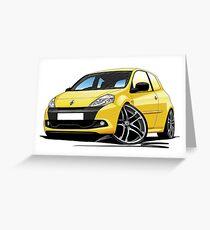 RenaultSport Clio III 200 Yellow Greeting Card