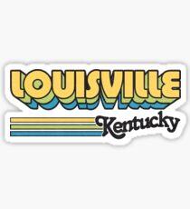 Louisville, KY   City Stripes Sticker