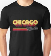 Chicago, IL | City Stripes Unisex T-Shirt