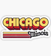 Chicago, IL   City Stripes Sticker