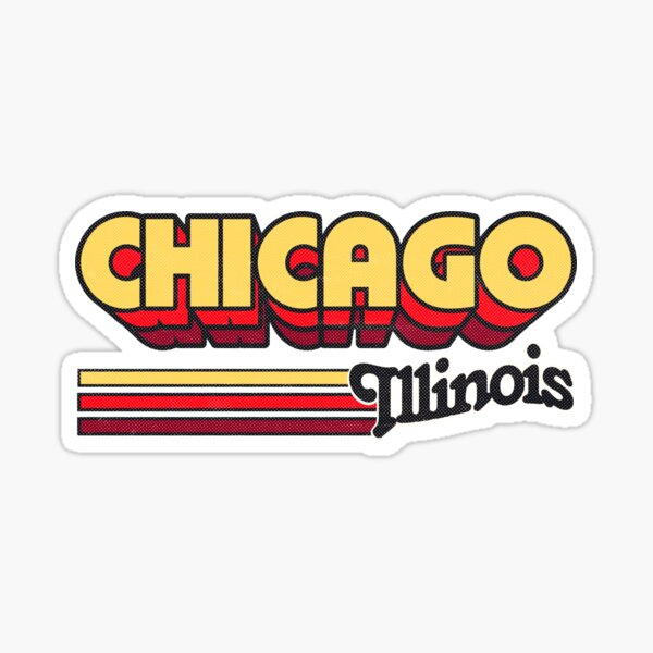 Chicago, IL | City Stripes Sticker