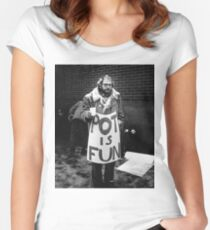 Ginsberg - Pot is Fun Women's Fitted Scoop T-Shirt