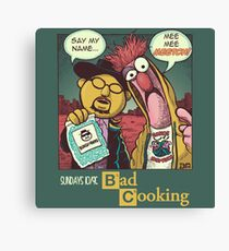 Bad Cooking Canvas Print